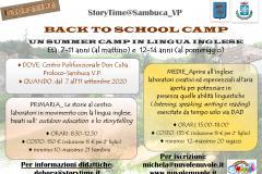 Volantino Back to school camp