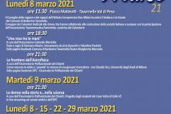 Locandina 8 marzo 2021
